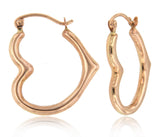 Heart Shaped Hoop 14k Rose Gold (18mm)