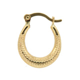 Oval Shaped Caviar Bead 14k Yellow Gold ☉Micro Collection☉