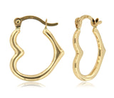 Heart Shaped Micro Hoop 14k Yellow Gold