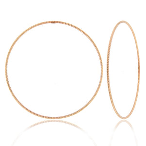 Rope Design 14k Rose Gold Bangle