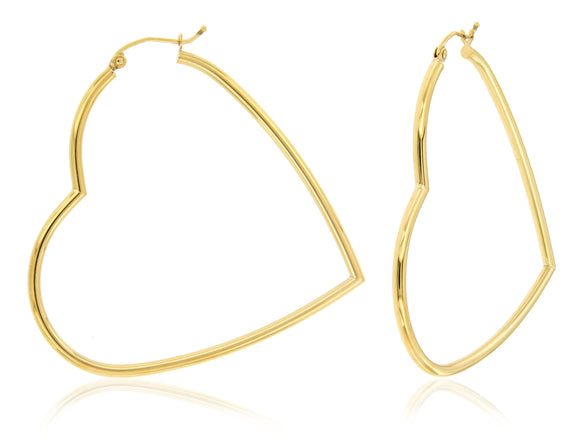 Giant Heart 14k Yellow Gold