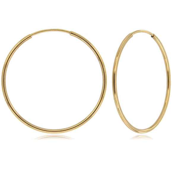 Infinity Dream 14k Yellow Gold Hoop Earrings ⊶Various Sizes Available⊷