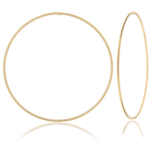 14k yellow gold bangle cable rope great gift for loved one