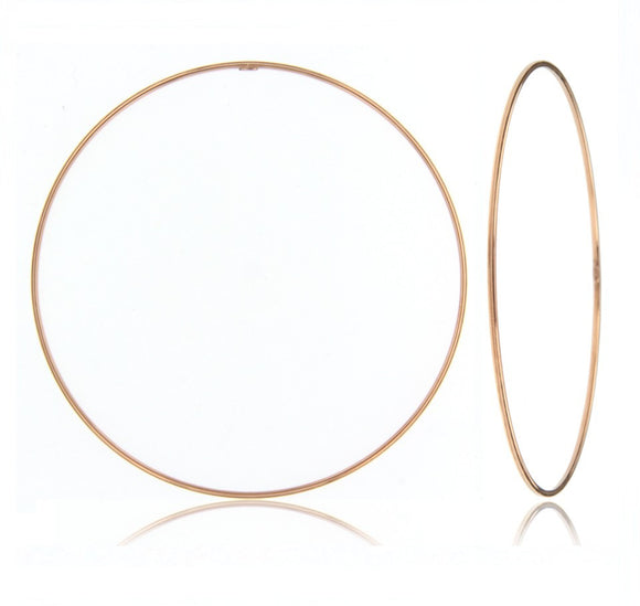 14k Rose Gold thin bangle