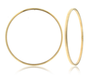 classy and elegant 14k yellow gold square tube bangle great gift for loved one