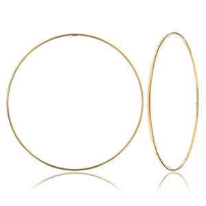 Thin high polished 14k yellow gold bangle