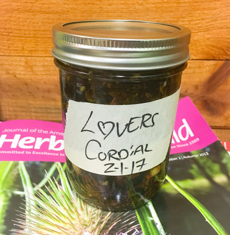 Lover's Cordial, Herbal Cordial, Valentines, Heart Health