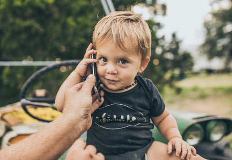 Our Son, Hamish, on the Phone