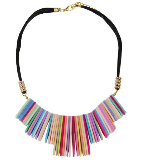 Collier Bohème multicolore