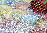CARNET DE MANDALAS ANTISTRESS A COLORIER-ADULTES ET ENFANTS