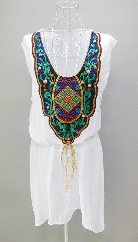 ROBE-TUNIQUE BRODERIE VINTAGE
