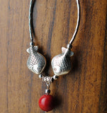 "Collier vintage ""poisson"""