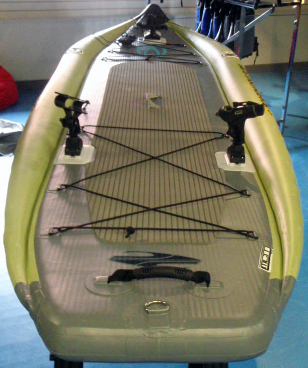 Badfish_Stand_Up_Paddle_Badfisher_Review_Rear_Bungee_Cooler_Scotty_Mounts