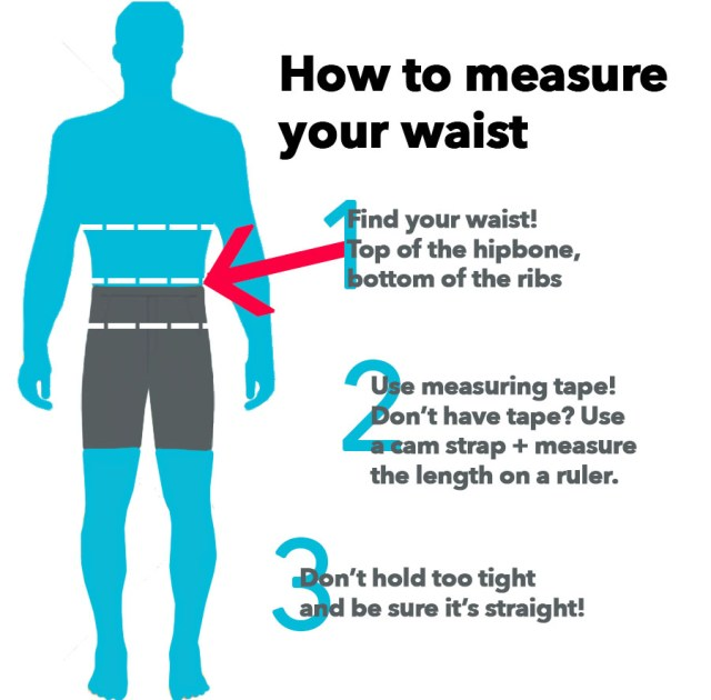 How to measure your waist for sprayskirt sizing