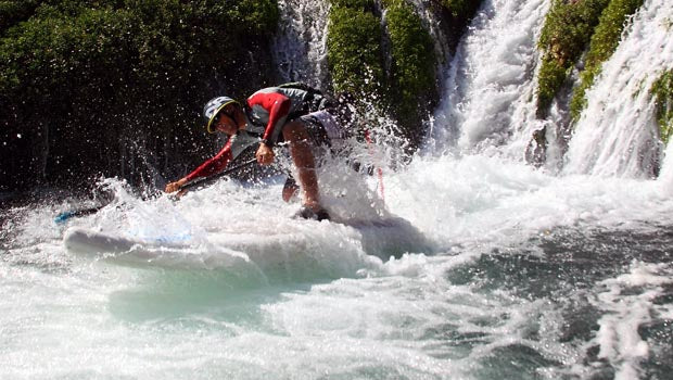 NRS_CZAR_Inflatable_Stand_Up_Paddleboard_Review_Stability_Waterfall