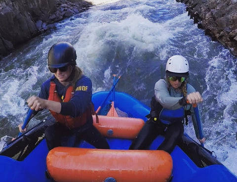 Two Women Rafting the Royal Gorge