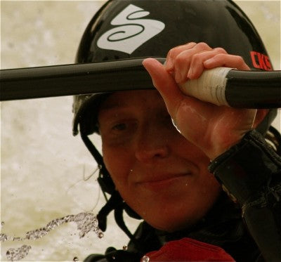 Upon first impression you have to notice Hayley Mills' million dollar smile.  Add to that winning personality a top-5 finish in Freestyle Kayaking's World Championships.