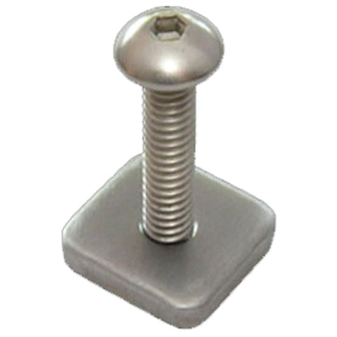 FCS Long Board Screw and Plate (Single)