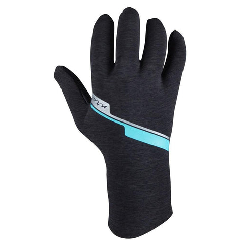 NRS Womens HydroSkin Gloves Gray Heather