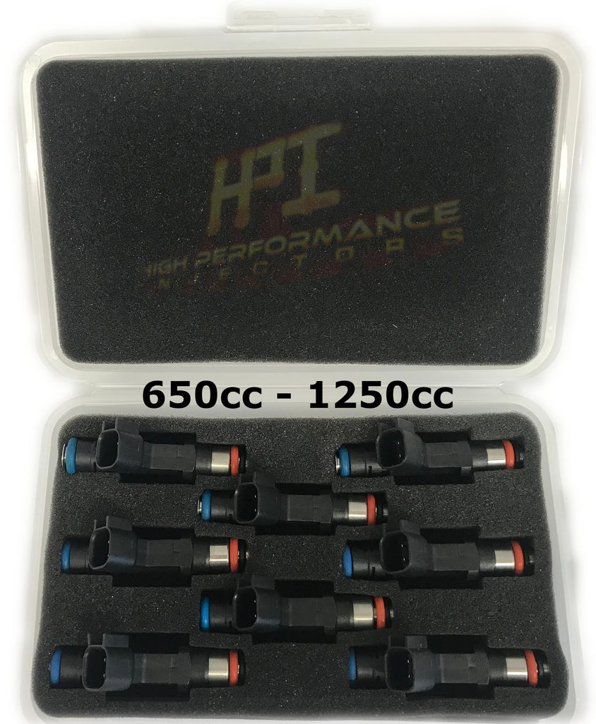 Injectors: Set of 8 LS1 / LS6 / LT1 / EV1 Style High Impedance HPI Injectors