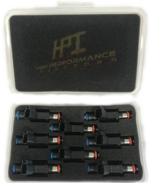 Fuel Injectors: Set of 8 LS1 / LS6 / LT1 / EV1 Style High Impedance HPI Injectors
