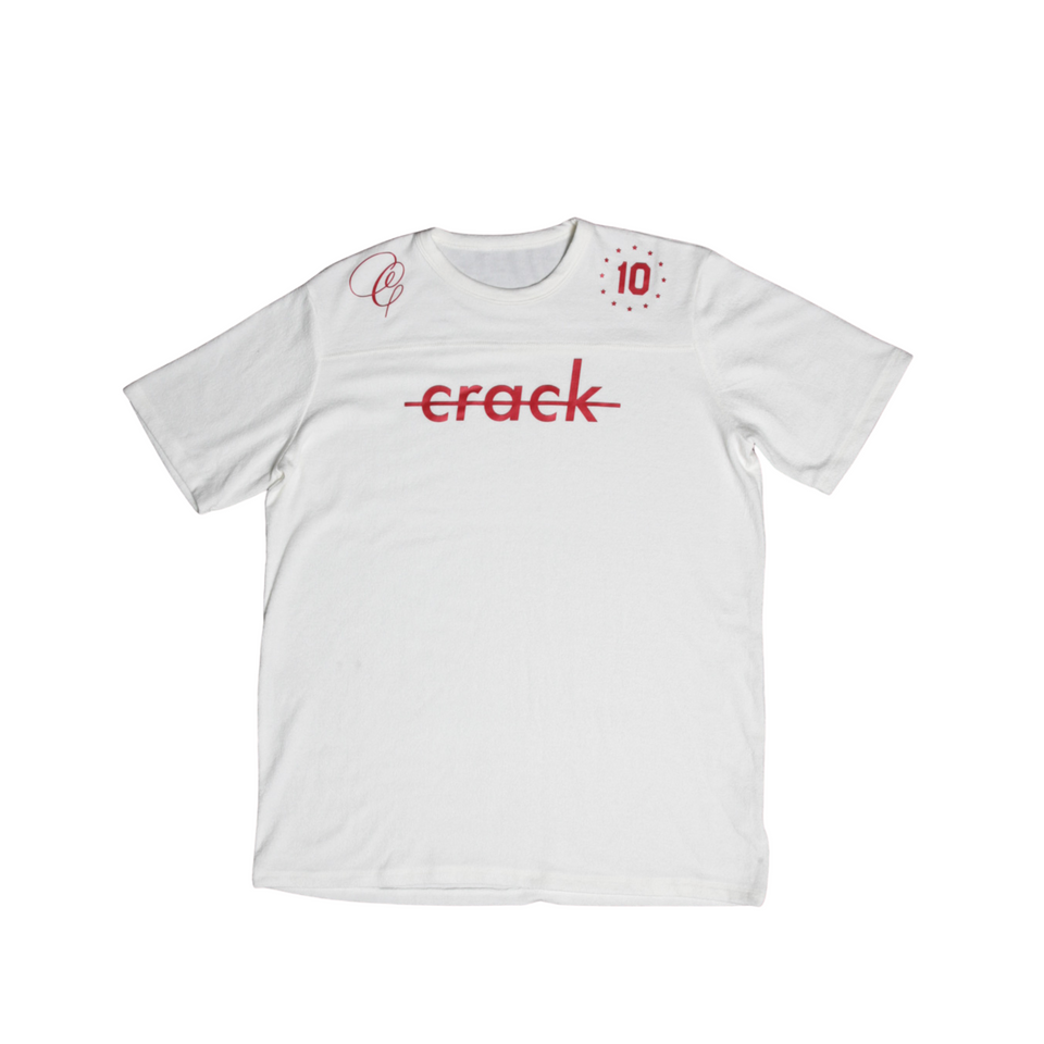 "Crack ""Jersey"" Tee White & Red"