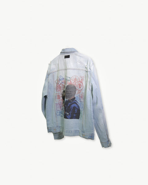 El Fenomeno // Distressed Denim Jacket