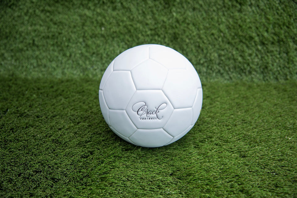 Crack Soccer Ball-Matte White