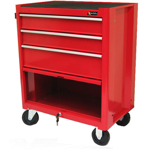 rolling tool boxes excel 3 drawers metal rolling tool box bottom box