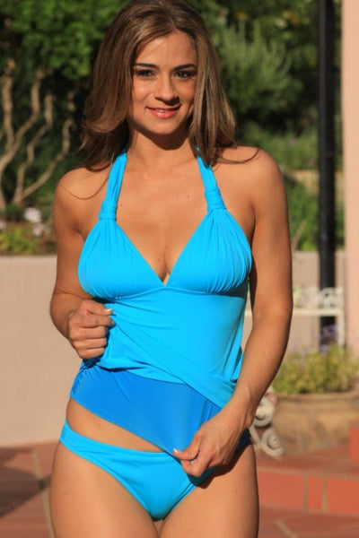Poolside Tankini Plus Swimsuit - Porcupine Lagoon LLC -bikini