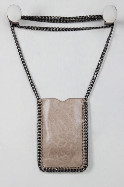 Chain Crossbody Phone Pouch - Porcupine Lagoon LLC -Accessories, Bags