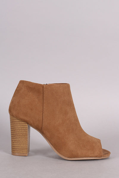 Qupid Peep Toe Ankle Booties - Porcupine Lagoon LLC -Shoes, Booties