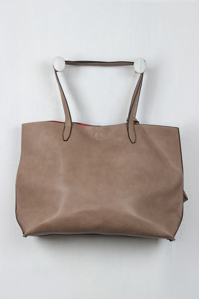 Large Textured Vegan Leather Tote Bag Set - Porcupine Lagoon LLC -Accessories, Bags