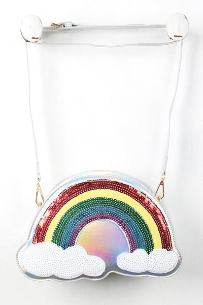 Sequin Over The Rainbow Mini Bag - Porcupine Lagoon LLC -Accessories, Bags