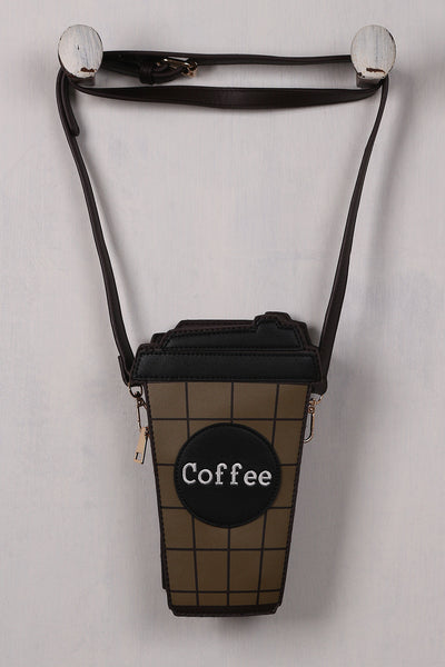 Addicted To Coffee Cross Body Mini Bag - Porcupine Lagoon LLC -Accessories, Bags