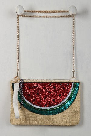 Watermelon Crossbody Clutch - Porcupine Lagoon LLC -Accessories, Bags