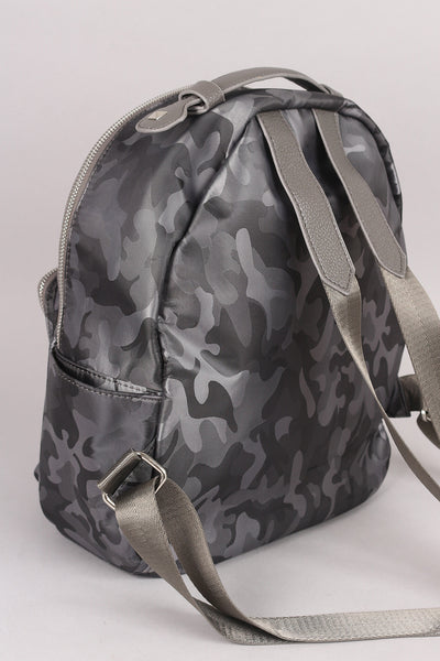 Textured Camouflage Studded Backpack - Porcupine Lagoon LLC -Accessories, Bags