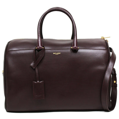 SAINT LAURENT YSL 12 HOUR DUFFLE LARGE LEATHER SATCHEL - Porcupine Lagoon LLC -Designer Bag
