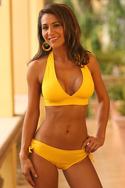 Sun and Sand Halter Top and Slider Bottom Bikini - Porcupine Lagoon LLC -bikini
