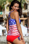 American Vintage Stars and Stripes Tankini Plus - Porcupine Lagoon LLC -bikini