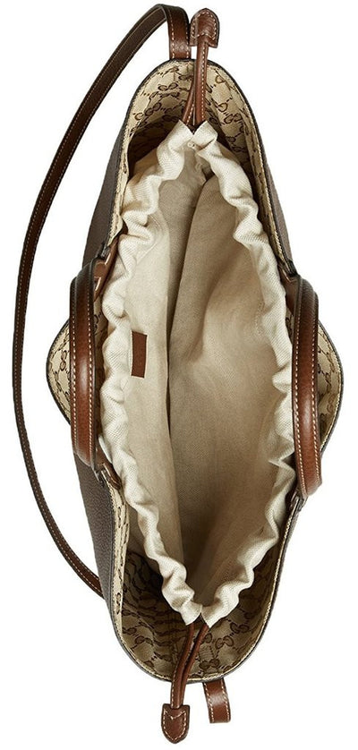 Gucci Beige Brown Original GG Canvas Leather Ramble Reversible Tote Bag - Porcupine Lagoon LLC -Designer Bag
