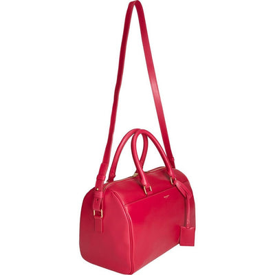 Saint Laurent Classic Duffle 6 Bag in Fuschia Hot Pink Calfskin Leather - Porcupine Lagoon LLC -Designer Bag