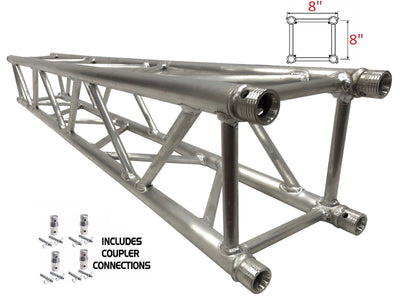 "1.5 Meter (4.92 ft.) 8"" Diameter 1.25"" Tubing Square Aluminum Truss Section"