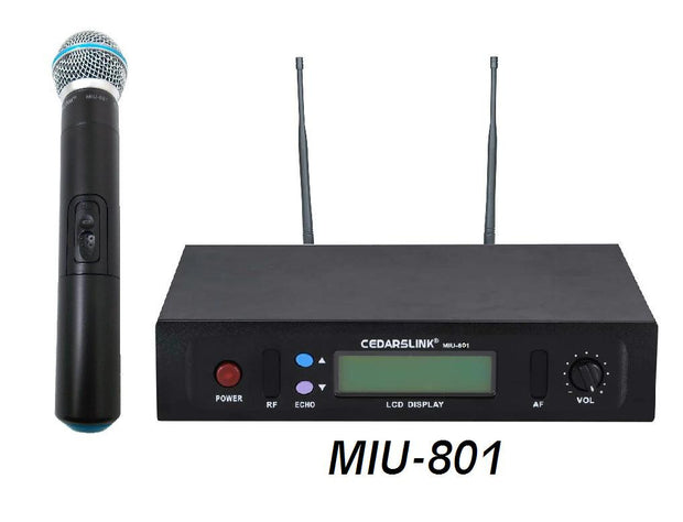 MIU-801 Professional Single UHF Wireless Microphone System With Echo Control