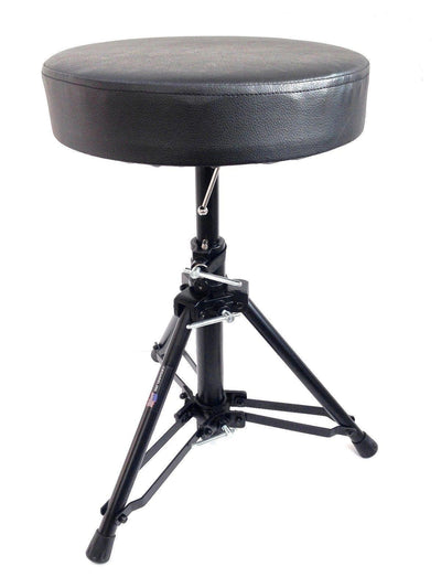 LK-455 Foldable Drum Throne Padded Seat Stool Stand Drummers Percussion Chair