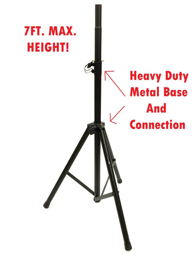 LK-PROSTAND Heavy Duty 7' Max. Height Metal Parts Speaker Stand