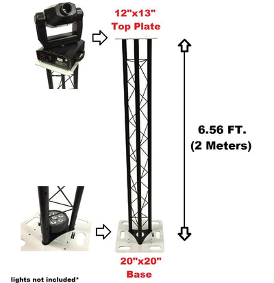CedarsLink 6.56 FT 2 Meter Triangle Stage/Club DJ Lighting Truss Tower Totem