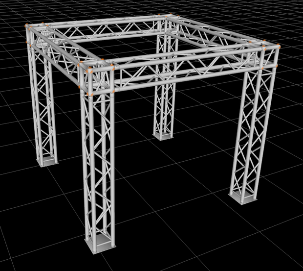 8.5ft x 8.5ft x 8.5ft Exhibition Module Tradeshow Square Booth Truss Display System Package