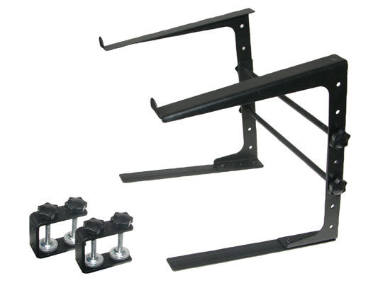 LK-LMS0 PA Mixer Studio Laptop Computer Table Top DJ Rack Stand Mount Clamp Case L Gear
