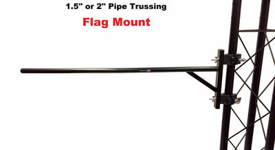 "LK-FLAG Trussing Truss Flag Banner Mounting System 1.5"" or 2"" Pipe For DJ Light Stands"